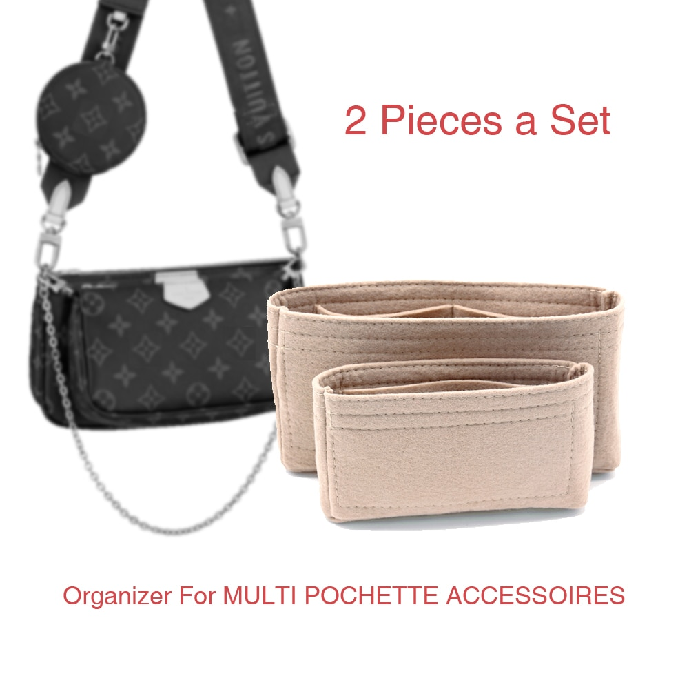 For Multi Pochette Accessoires bag Organizer insert crossbody bags shoulder luxury small makeup purs