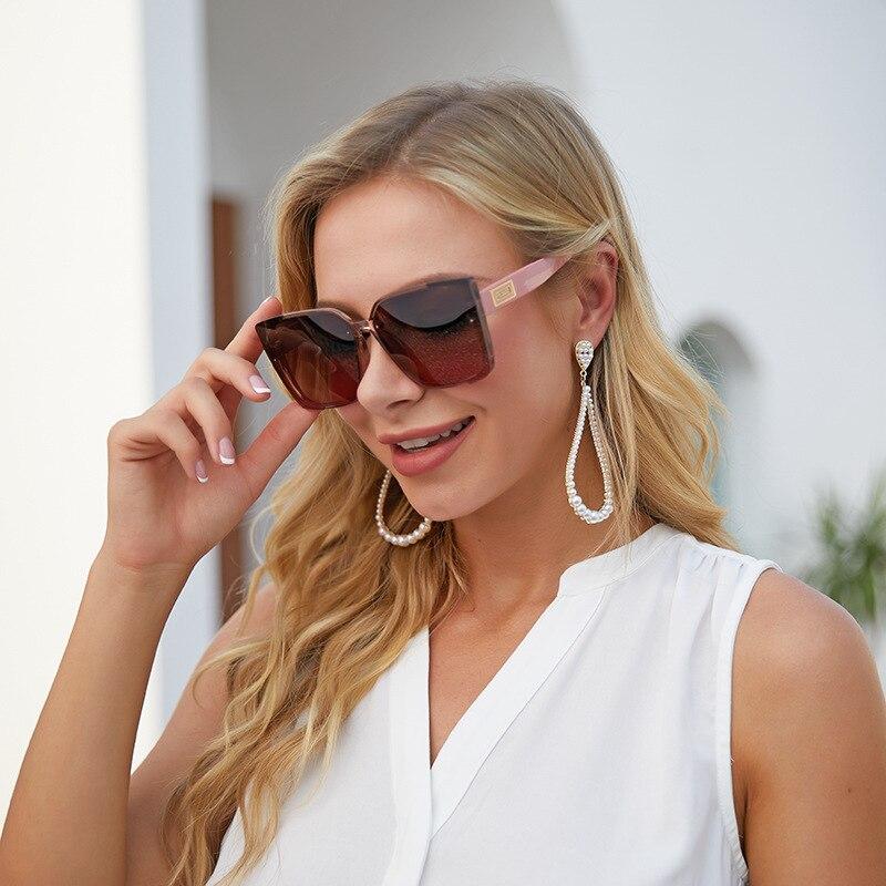 Модные солнцезащитные очки в большой оправе женские классические солнцезащитные очки Роскошные брендовые дизайнерские очки оптом солнцез...
