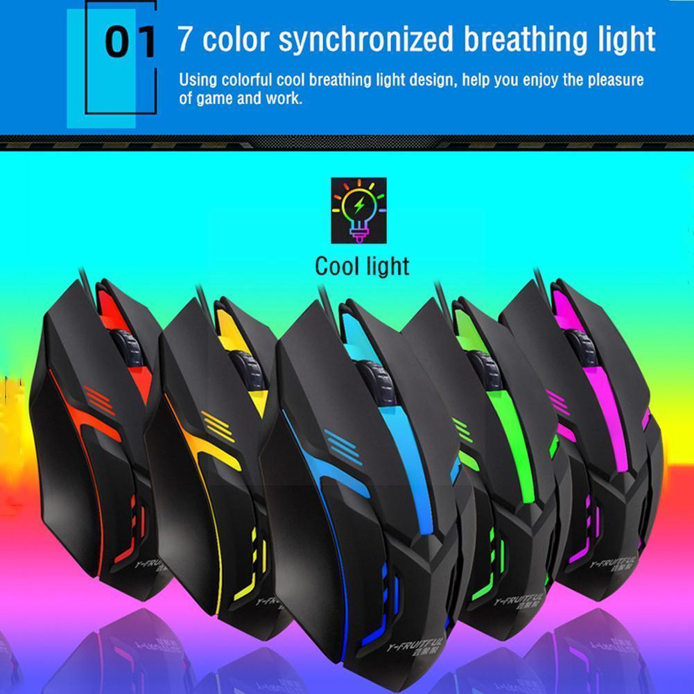 Wireless Gaming Mouse Ergonomic 1000 Dpi 7 Colors Led Computer Light Breathing Mouse Backlight Lapto