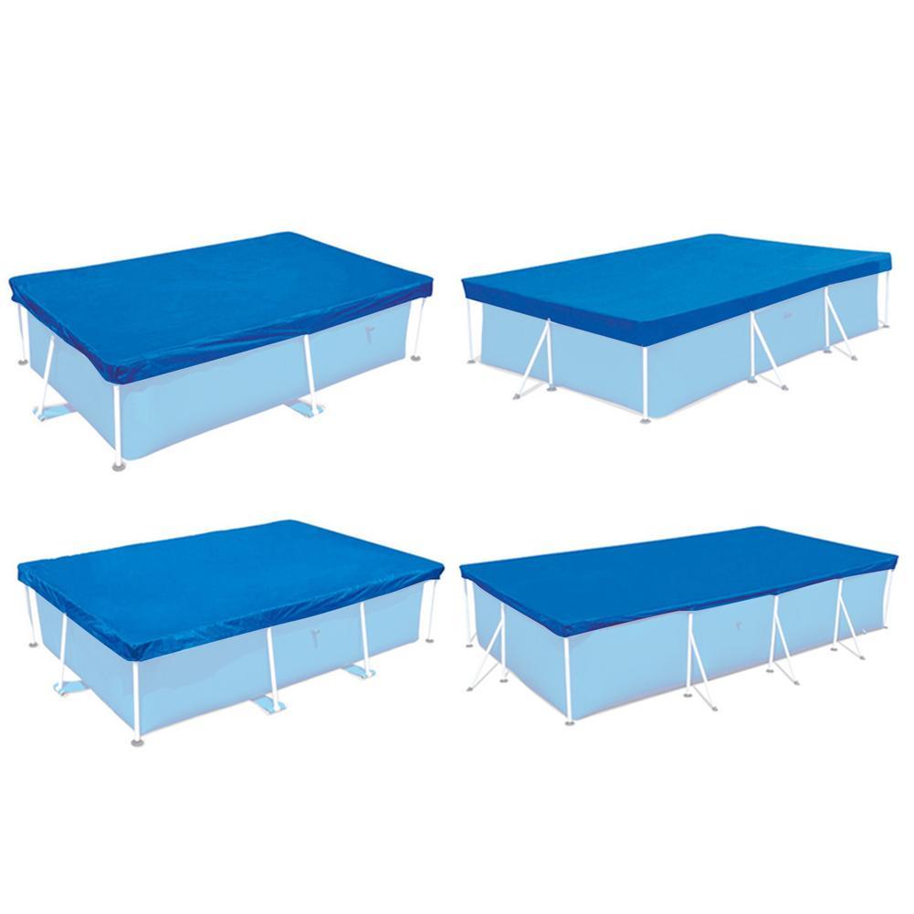 Аксессуары для наружного бассейна, прямоугольное покрытие для бассейна, брезентовое защитное покрытие для солнечного бассейна, теплоизоля...