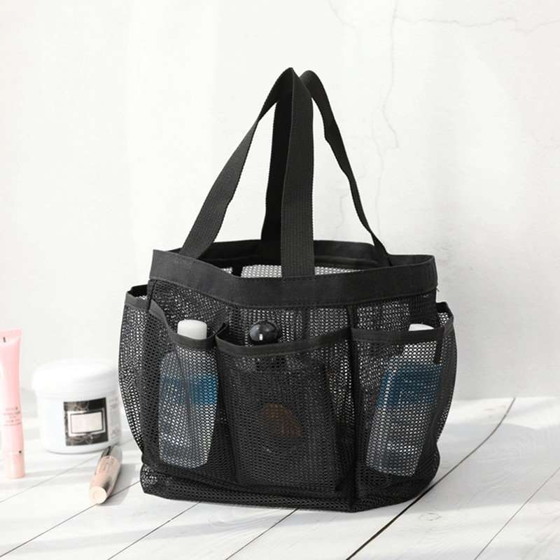 Mesh Shower Caddy Portable for College Dorm Large Bathroom Tote Bag Durable with 8 Pockets SCVD889