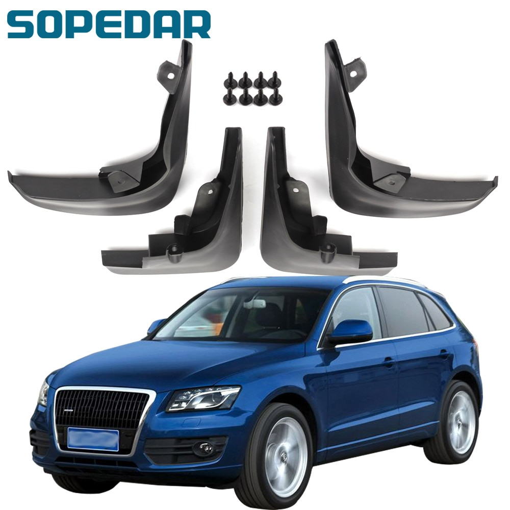 SOPEDAR Car Mud Flaps Front Rear for Audi Q5 2009 2010 2011 2012 Splash Guards Mudflaps Fender Wheel Mudguards Exterior Parts