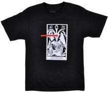 أسود مقياس لو الشيطان تي شيرت BLVCK SCVLE رجل التارو غامض قميص أسود (1)