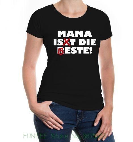 Camiseta de las mujeres Damen Kurzarm camiseta para chica mamá Ist Die Beste Mutter Mami Spruche fotos interesantes