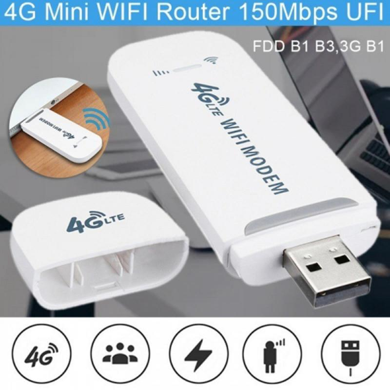 Portable 4G/3G LTE Car WIFI Router Hotspot 100Mbps Wireless USB Dongle Mobile Broadband Modem SIM Card Modem Unlocked