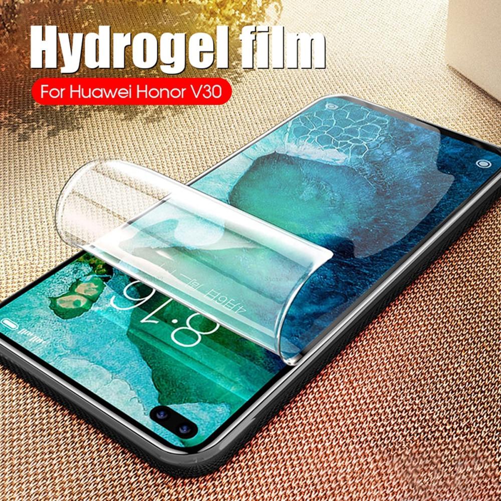 Для huawei honor phone Защитная пленка для экрана view 30 pro 20 20i 20S lite v30 не стеклянная Гидрогелевая пленка мягкая полная защитная пленка