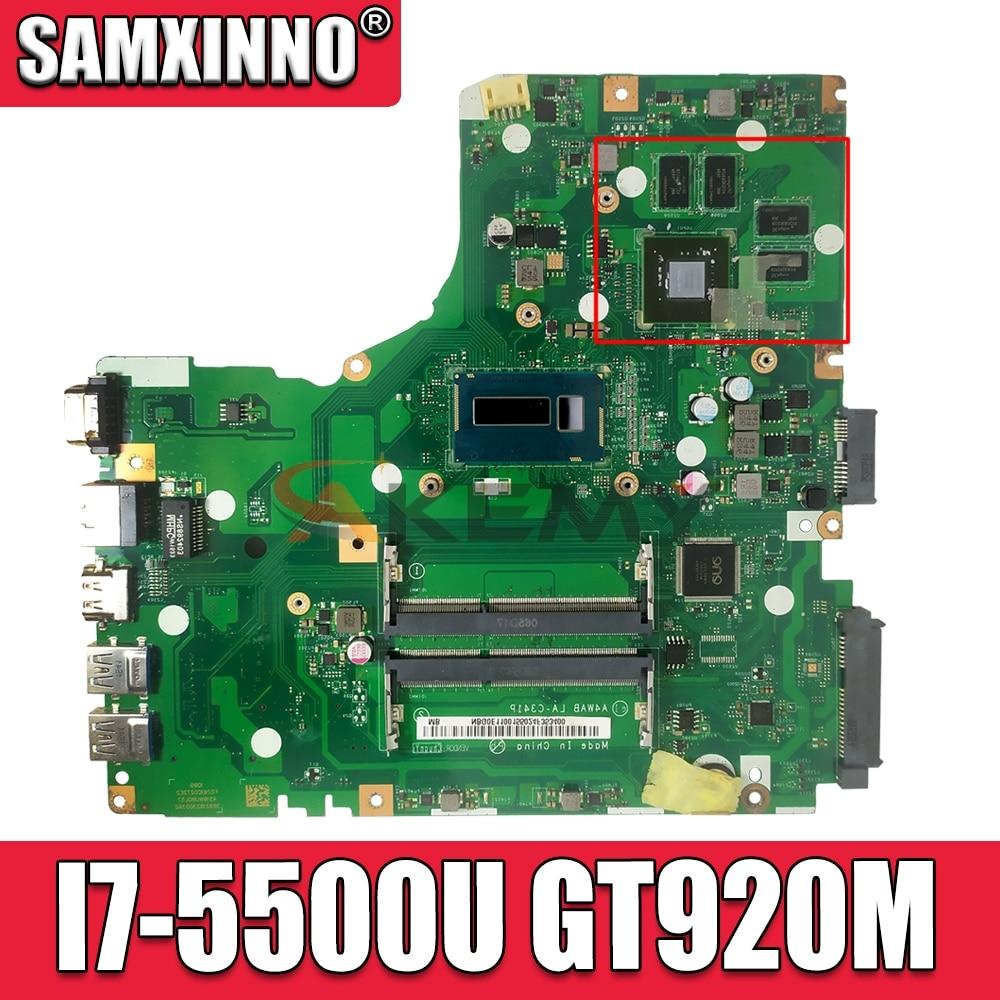 A4WAB LA-C341P placa base para Acer Aspire E5-473 E5-473G placa base I7-5500U...