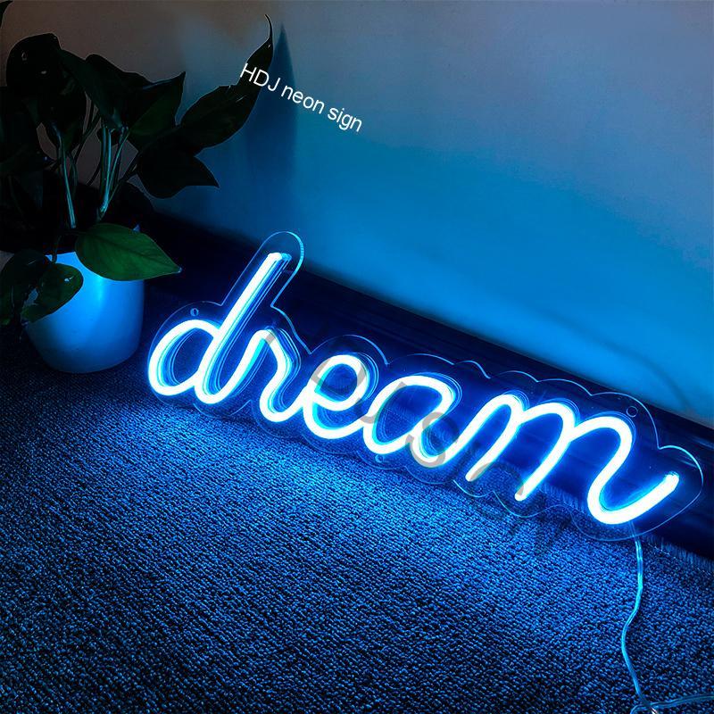 حلم شخصية مصابيح إضاءة ليد مخصصة النيون تسجيل جدار ديكور لغرفة النوم بار مقهى المنزل النوم نادي ديكور حفلات