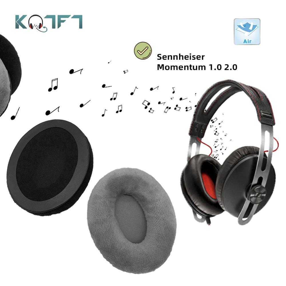 1 par de reemplazo de almohadillas KQTFT para auriculares Sennheiser Momentum 1,0/2,0