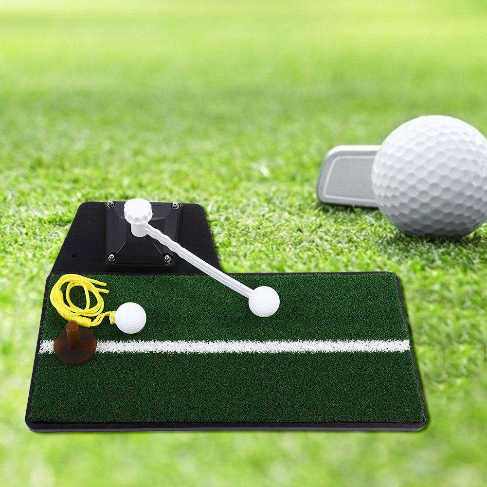 Golf Exercise Mat Training Hitting Grass Pad With Ball Backyard Indoor Practice Aids Rubber Tee Holder Fitness Sport Supplie