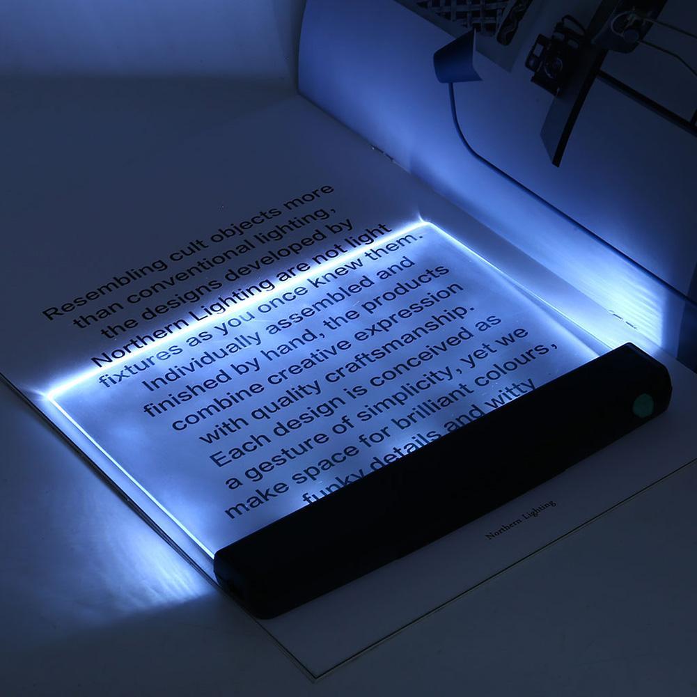 Placa plana creativa luz LED de libro lectura luz nocturna portátil viaje dormitorio Led lámpara de escritorio protección de ojos para el hogar dormitorio 2020