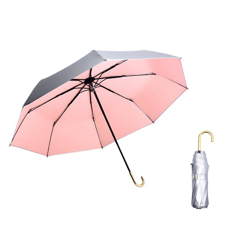 Diseñador Paraguas ligero claro inversa Plegable sólido Paraguas de colores Señoras a...