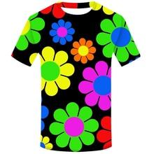 Hippy fleur marguerite printemps 3D impression T-shirt hommes Hipster T-shirt Homme décontracté Hip Hop drôle T-shirt Harajuku vêtements de mode
