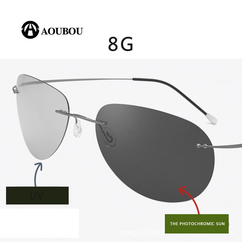 Fotocromáticos gafas de visión nocturna oculos de grau masculino sin marco gafas hombre kingseven gunes gozlugu lentes de sol de hombre8G