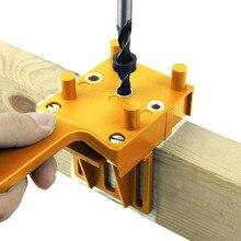 Kit de scie pour trous de perçage du bois, pour chevilles à bois, Guide de positionnement, outils avec 3 pièces broches pour chevilles métalliques de 6 8 10mm forets
