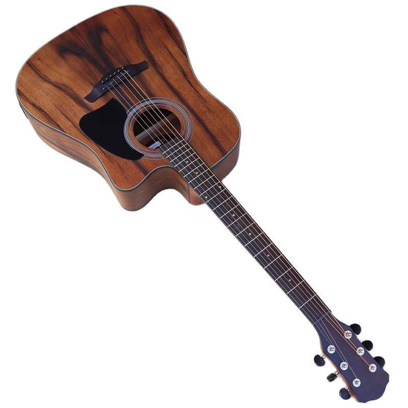 جيتار كهربائي صوتي 41 بوصة 6 أوتار جيتار صوتي على شكل حرف A مصنوع من الخشب مع خاصية موالف EQ