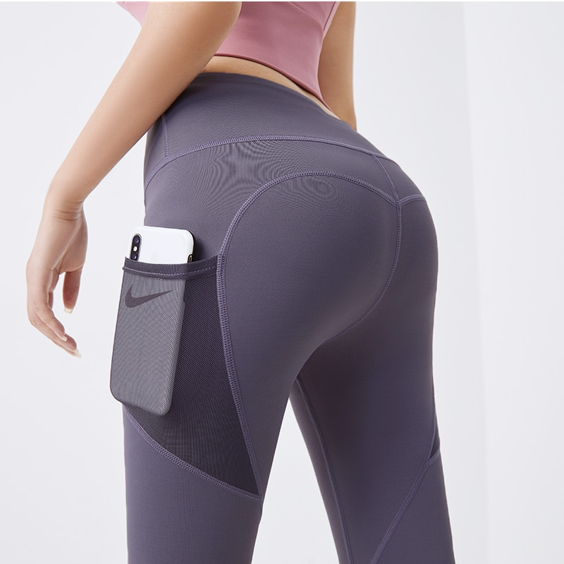 Compression Gym Pants With Pocket Fitness Yoga Wear High Waist Stretch Fitted Yoga Leggings Sport Women Fitness Yoga Pants