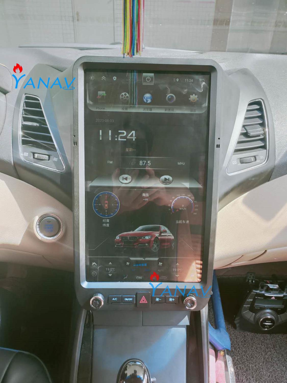 Reproductor de vídeo multimedia para coche con pantalla vertical Tesla HD para Hyundai Elantra 2013-2017 REPRODUCTOR DE DVD navegador GPS estéreo para coche Android