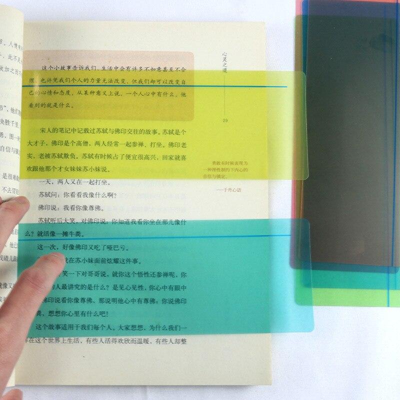 1/6/8 peças tamanho grande guiado leitura tiras destacar sobreposições coloridas colorido marcador leitura rastreamento réguas para dislexics