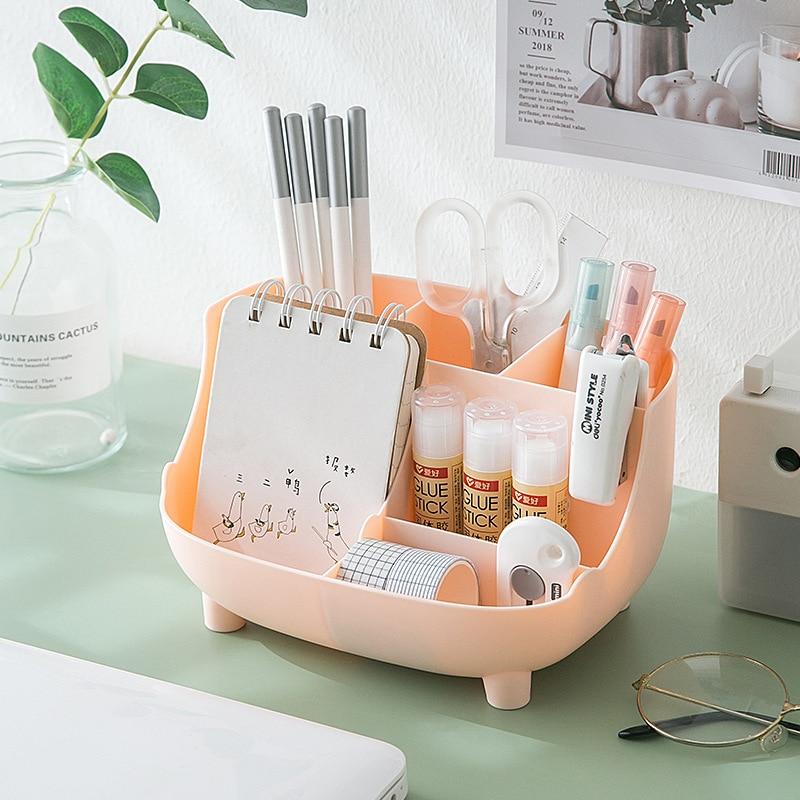 Новый многофункциональный Настольный ящик для хранения большой емкости, косметический чехол, чехол для косметики, органайзер для офиса, ко...