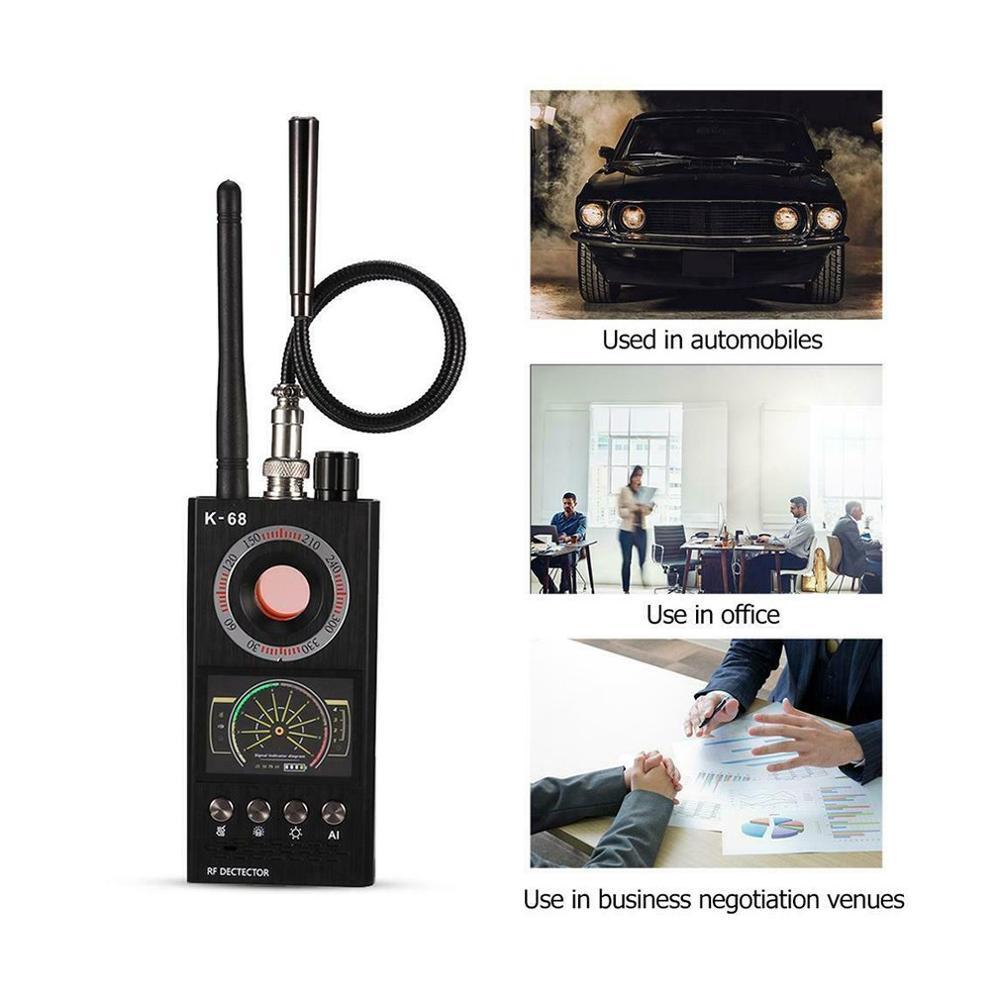 K18,anti Spy Versteckte Kamera Detektor RF Bug Detector Drahtlose Signal Scanner Alarm Sicherheit Motion Vibration Sensor K18 LESHP