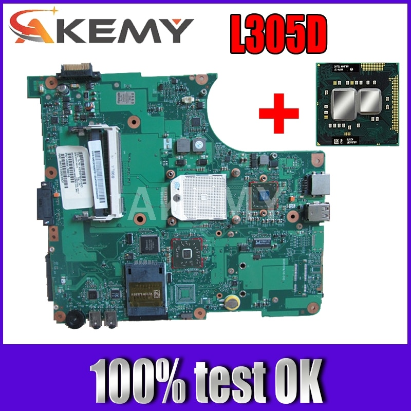 Comprar MB obtener 1 CPU portátil gratis placas base para Toshiba Satellite L300D L305D 6050A2323101 V000148410 probado OK