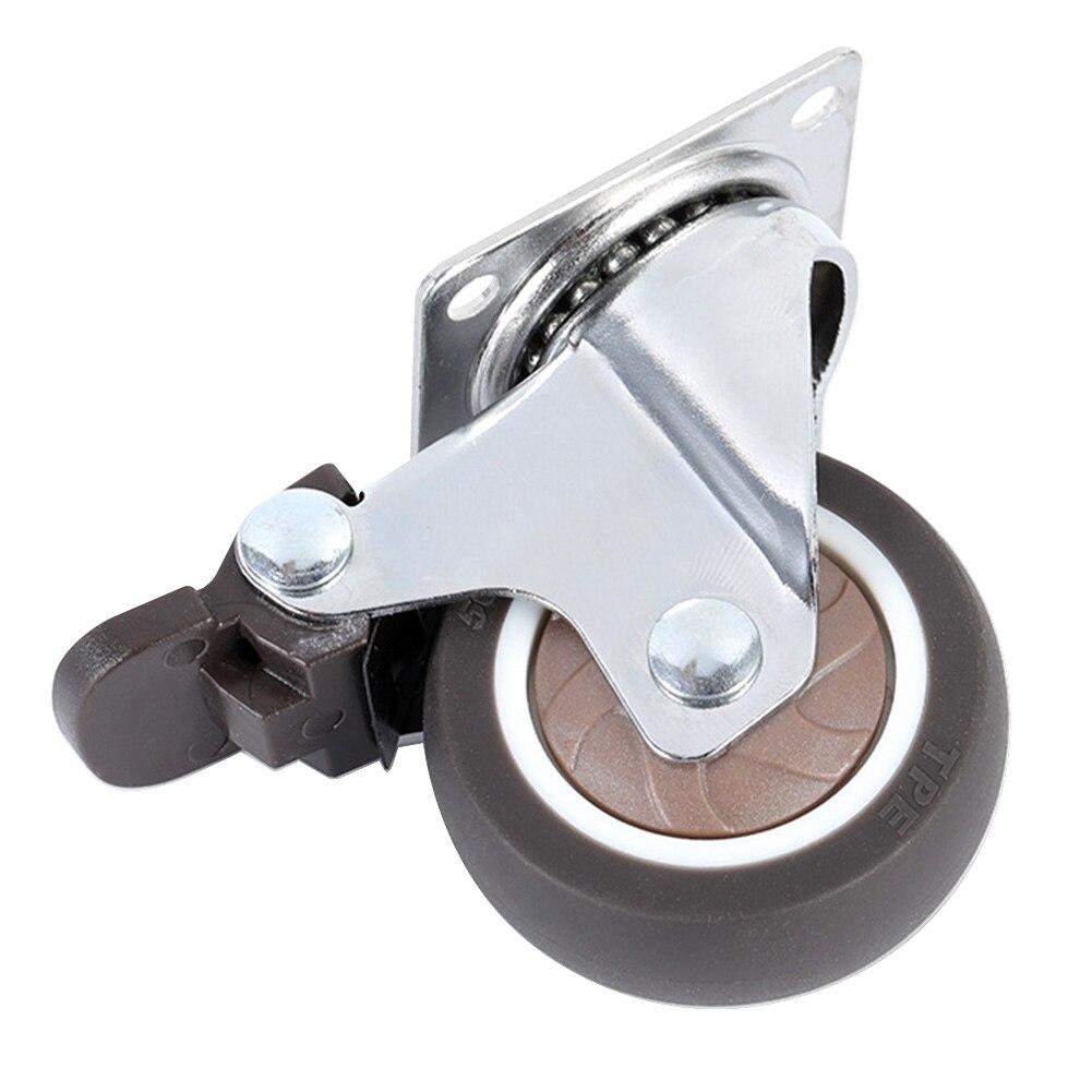 Substituição universal resistente da mobília do giro do freio da tabela do rodízio do rolo do escritório da cadeira do mudo de borracha antiderrapante