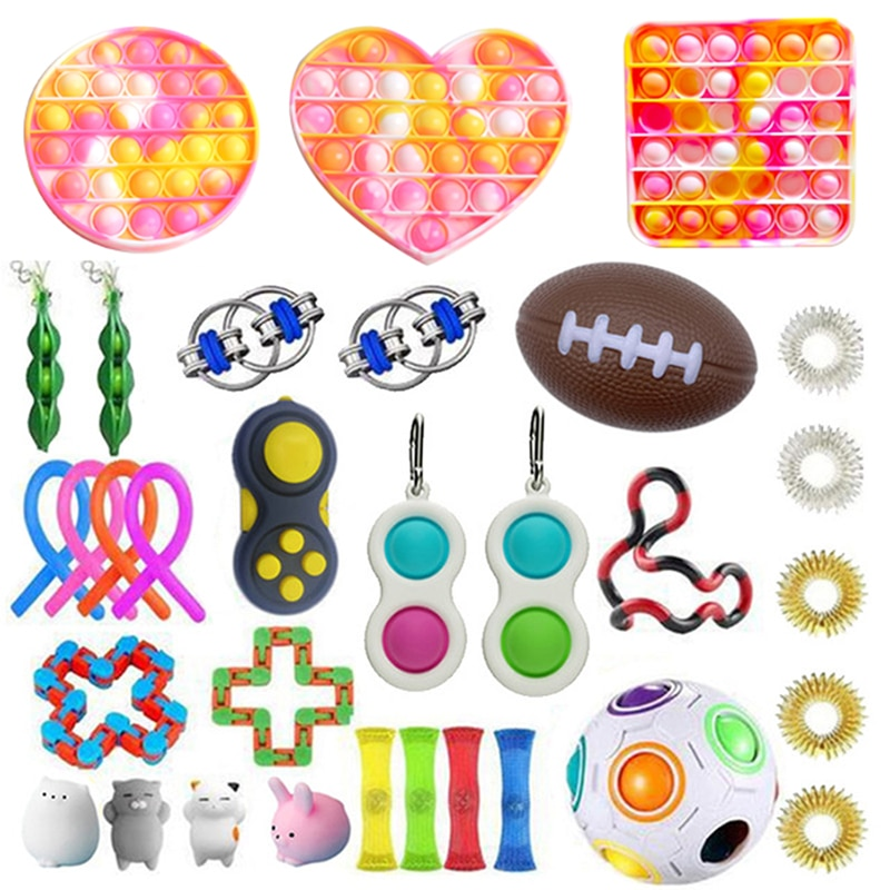 Fidget Toys Set AntiStress Box Strings Marble Relief Gift Free Shipping Antis-tress Relief Figet Toy Pack enlarge