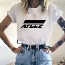 Kpop groupe ATEEZ T-shirt hauts Hongjoong Seonghwa Yunho Yeosang San Mingi Wooyoung Jongho ATEEZ un adolescent Z