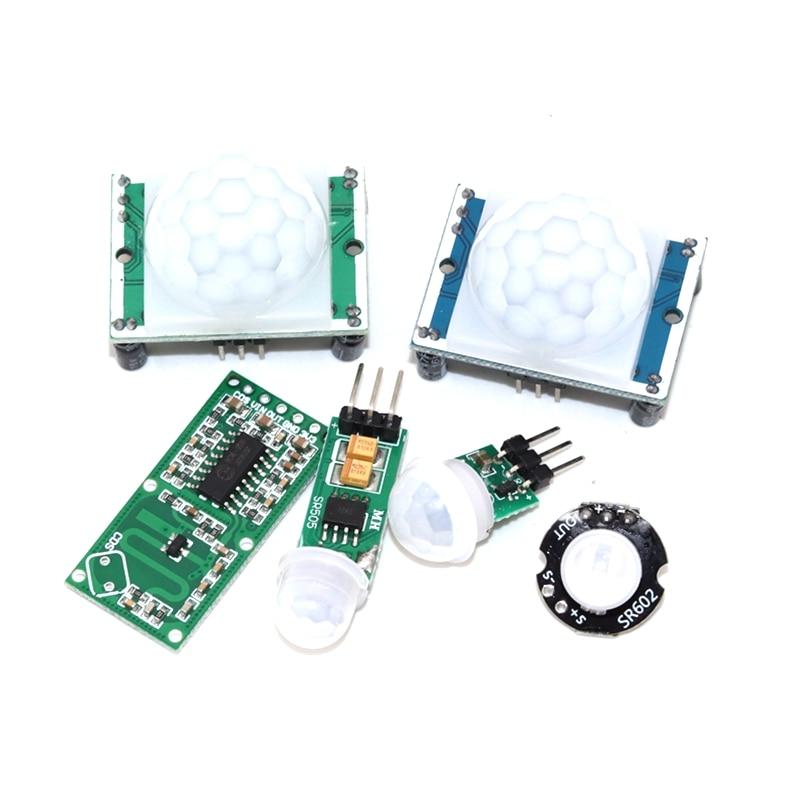 HC-SR501 HC-SR505 SR602 AM312 Adjust IR Pyroelectric Infrared PIR Motion Sensor Detector Module Brac