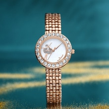 Women Watches Top Brand Luxury Waterproof Elegant Design Rhinestones Wristwatch for Women Rose Clock