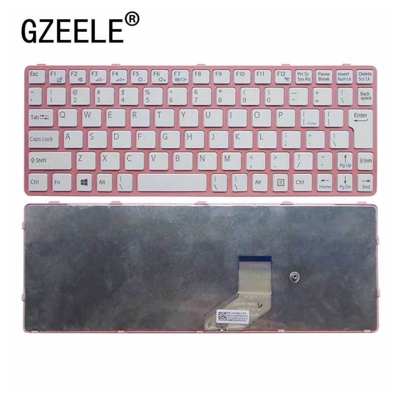 GZEELE nuevo para SONY VAIO E11 SVE11 SVE 11 SVE111 SVE11113FXB sve1111115eg teclado Inglés ee.uu. 149036311 color rosa blanco