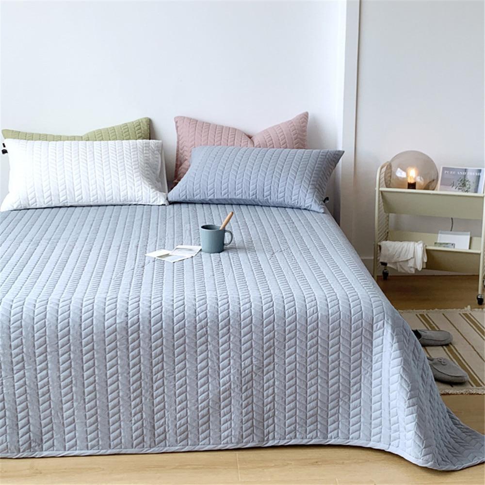 ADOREHOUSE مجموعة لحاف قابل للغسل 1/3 قطعة غطاء وسادة شمس هندسية المفرش بلون غطاء لحاف السرير لينة الفراش