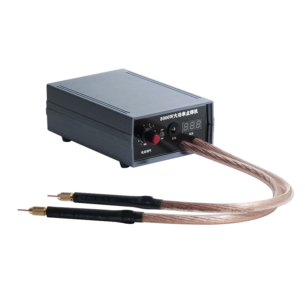 Ручной точечный сварочный аппарат высокой мощности 5000 Вт регулируемые сварочные аппараты 110-240 В для батареи 18650