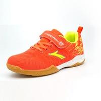 Kids Shoes Tennis Sneakers Outdoor Girls Boys Badminton Shoes Cute Comfortable Training Children Sports Footwear Blue Orange