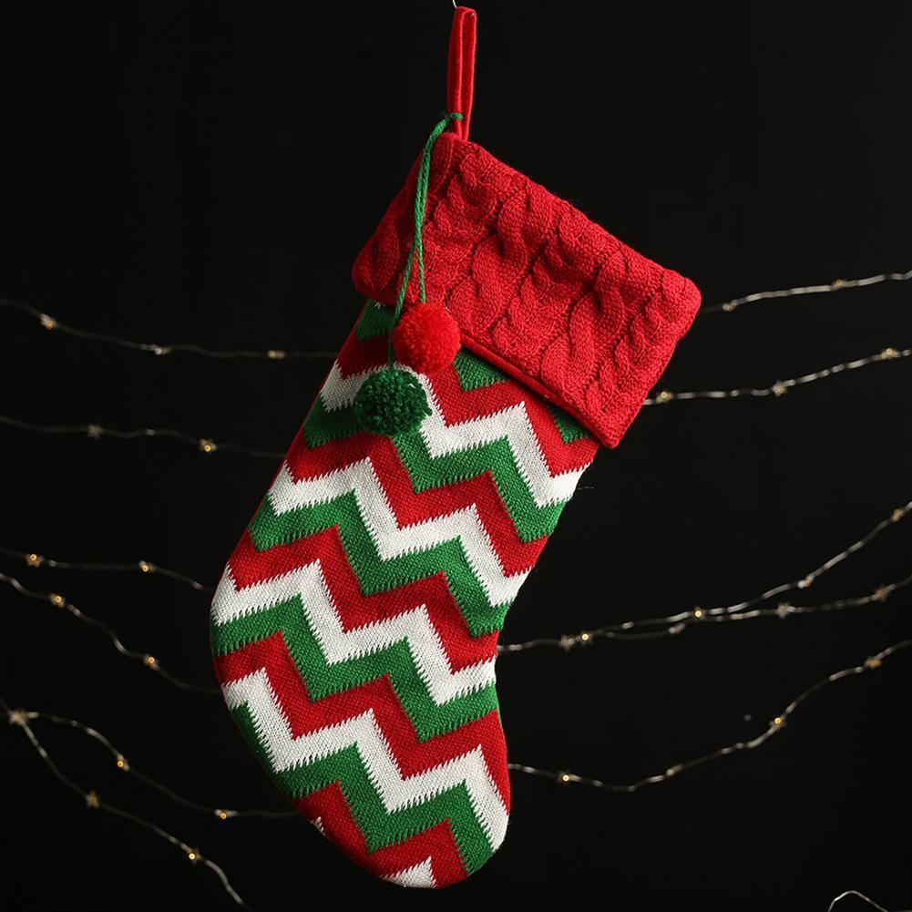 70% Прямая поставка! Изысканные рождественские носки, яркие цветные носки из пряжи в рождественском стиле, украшение для дома, праздничное ук...