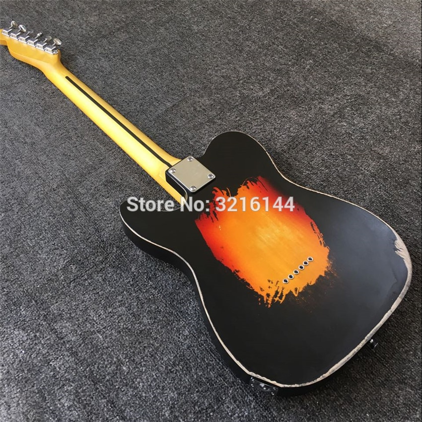 In stock, do old electric guitars, antique relic guitars, real photos, free shipping enlarge