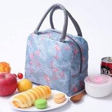 Animal Flamingo sac isotherme femmes Portable fonctionnel rayure isolé thermique alimentaire pique-nique enfants refroidisseur boîte à déjeuner sac fourre-tout