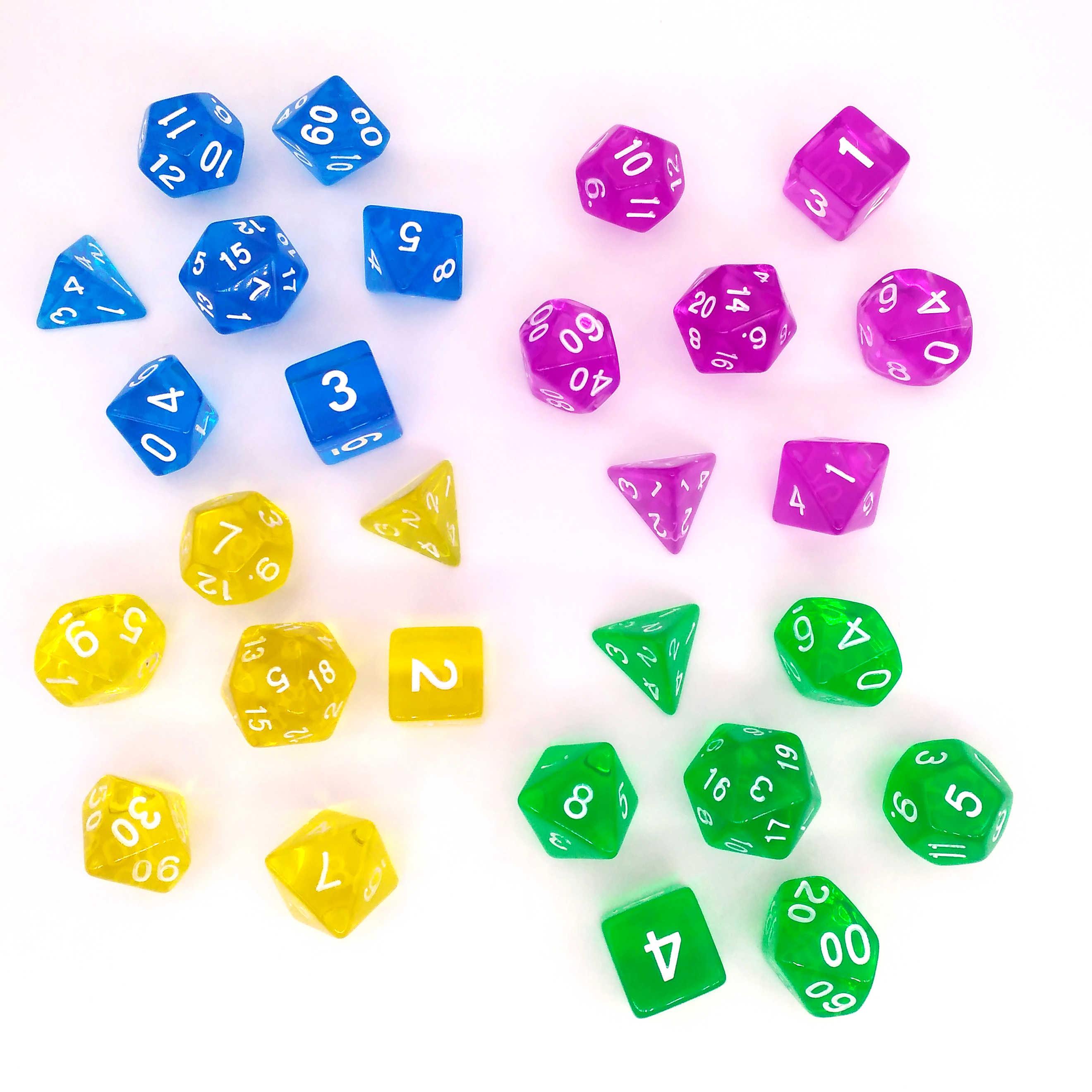 Titans Dd Würfel Set Farbe Sortiert Von 49 Stücke Kristall Marmorierung Poly Würfel D20 D10 D6 D4 Rpg Roll Würfel Spiele W Würfel Beutel Aliexpress
