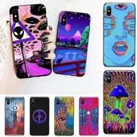 psychedelic arte phone case for iphone 12 11 mini pro xs max 8 7 6 6s plus x 5s se 2020 xr