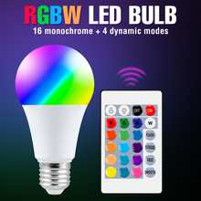 E27 Light RGB LED Dimming Spotlight Bulb 220V Magic Lamp Bulbs 10W 15W LED Colorful Smart Lights E14 Wireless IR Remote Ampoule
