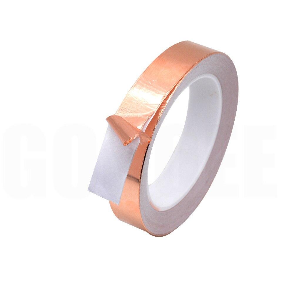 1PCS 20M 3mm 4mm 5mm 6mm 7mm 8mm Single Side Conductive Copper Foil Tape Strip Adhesive EMI Shielding Heat Resist Tape width
