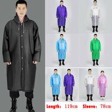 Las mujeres de los hombres chaqueta impermeable EVA botón impermeable con capucha capa de lluvia Poncho impermeable