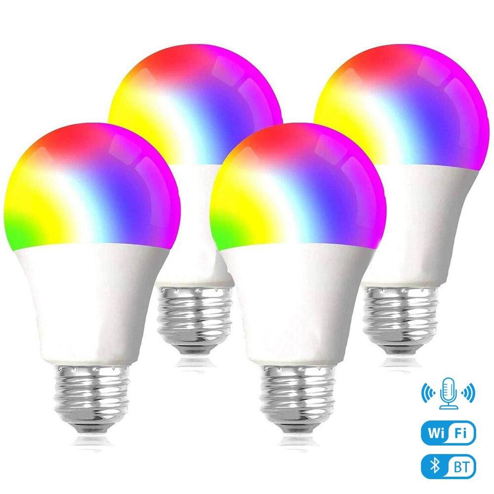 Bombillas LED para lámpara de casa, lámpara de luz nocturna RGBW de...