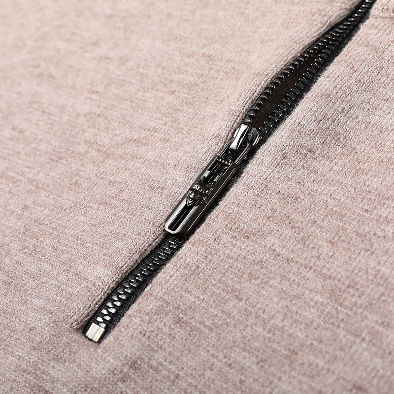 2020 New Autum Winter Fashion Brand Designer Korean Knit Half Zipper Sweaters For Men Turtleneck Pullover Casual Mens Clothing