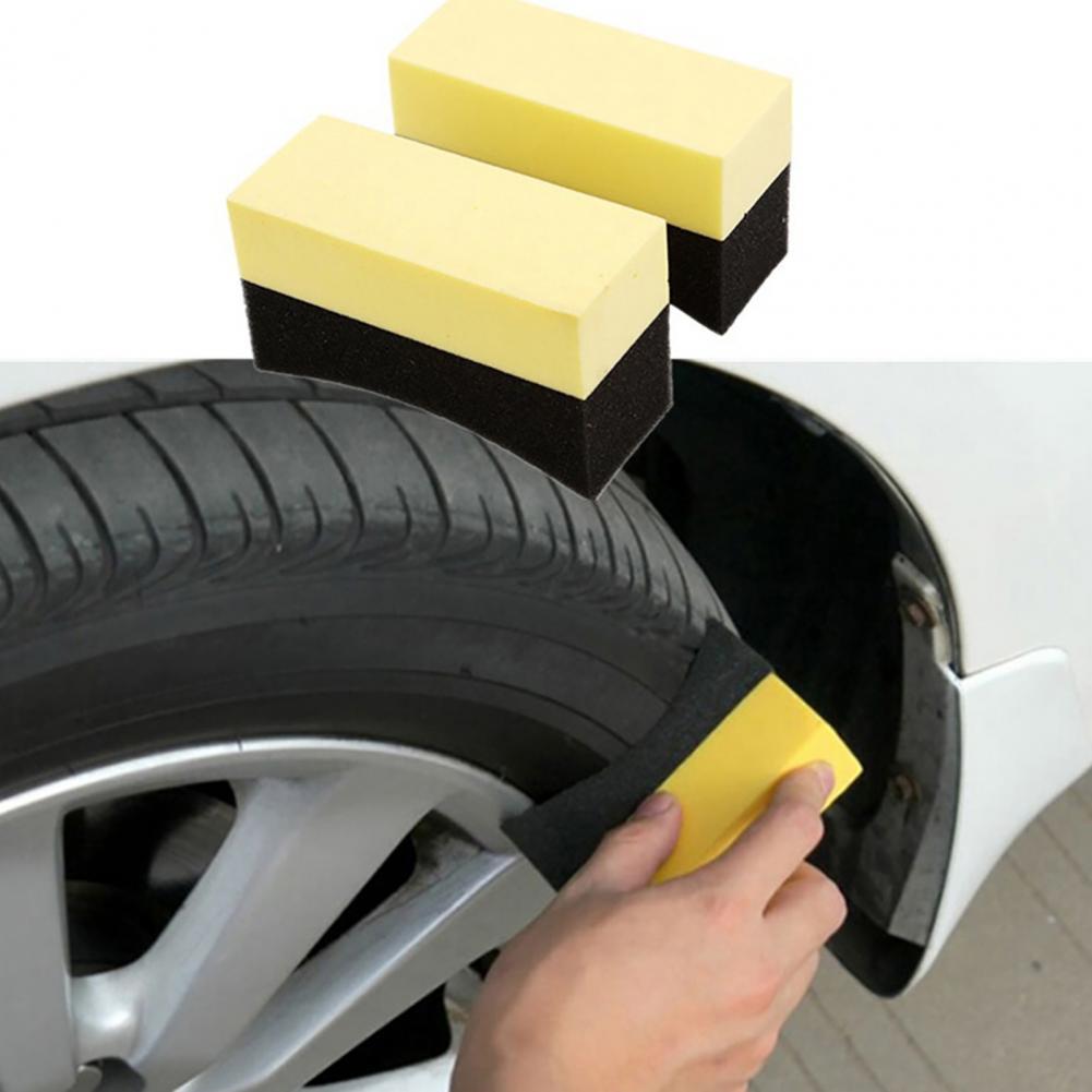 2 шт., губка для чистки автомобильных шин, щетка для полировки и полировки воском, U-образный инструмент, высокая мощность очистки