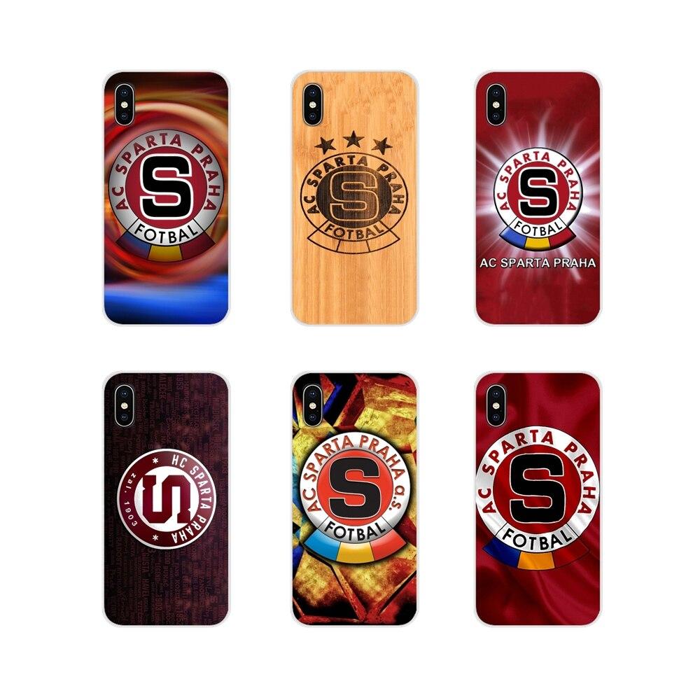 Funda transparente con diseño a la moda, de Sparta Praha Footballs para Huawei G7 G8 P7 P8 P9 P10 P20 P30 Lite Mini Pro P Smart Plus 2017 2018 2019