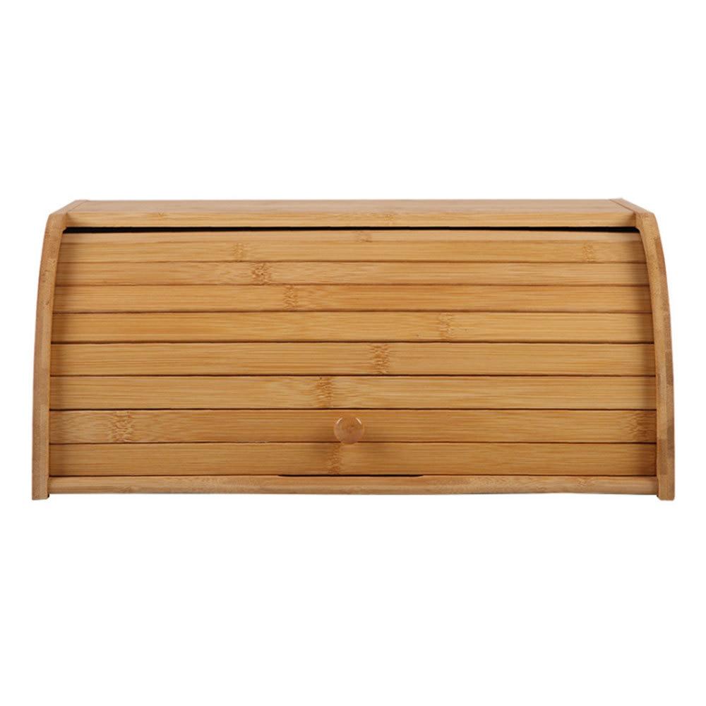 الطبيعية الخيزران الخبز المعجنات حامل الغذاء صندوق تخزين المطبخ رولتوب رغيف صندوق تخزين اللوازم المنزلية