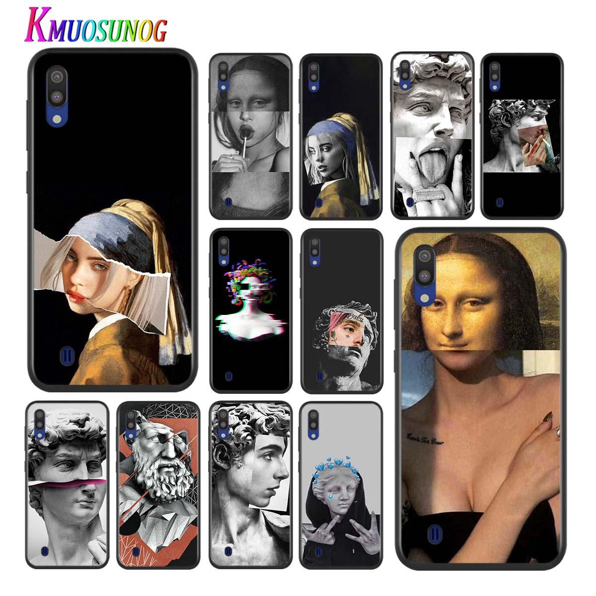 Estatua de Miguel Ángel estética para Samsung Galaxy A90 5G A80 A70S A70 A60 A50S A40 A30 A20E A20 A20S A10S A10 A10S teléfono caso