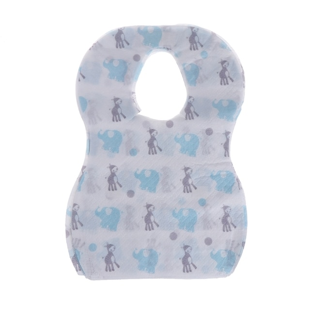20pcs/lot Sterile Disposable Bibs Children Baby waterproof Eat Bibs With Pocket